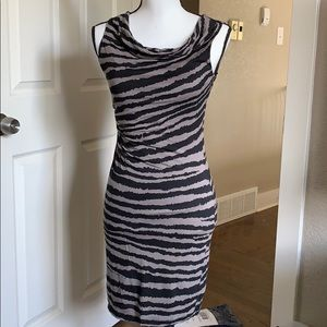 Loft Striped Fitted Petite Dress XS